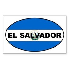 elsalvador-flag-oval2 Decal
