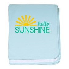 Hello Sunshine baby blanket