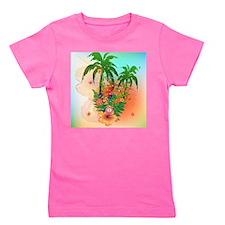 Tropical summer design Girl's Tee
