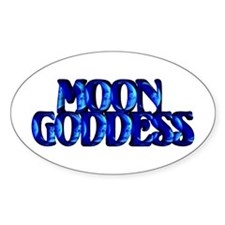 Moon Goddess Oval Decal