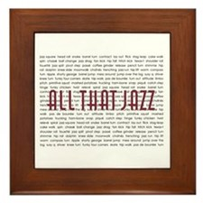 All That Jazz Framed Tile