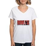 Bowling Women's V-Neck T-Shirt
