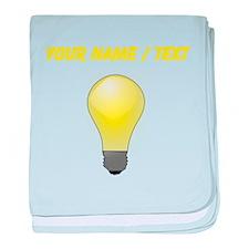 Custom Lightbulb baby blanket