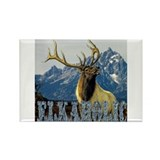 Teton Elk elkaholic gifts Rectangle Magnet (100 p