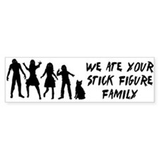 Zombies ate stick figures Bumper Sticker