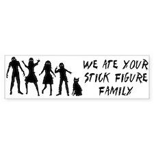 Zombies ate stick figures Car Sticker