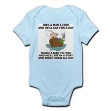 FIN-teach-man-fish-... Infant Bodysuit