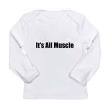 FIN-all-muscle-BELLY.png Long Sleeve Infant T-Shir