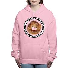 FIN-bagel-how-i-roll.png Women's Hooded Sweatshirt