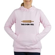 FIN-how-i-rolling-pin.png Women's Hooded Sweatshir