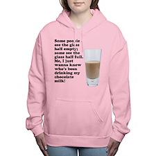 FIN-chocolate-milk.png Women's Hooded Sweatshirt