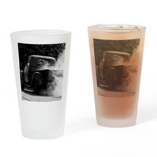 Vintage Truck Hot Smoking Tires Drinking Glass