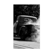 Vintage Truck Hot Smoking Tire Decal