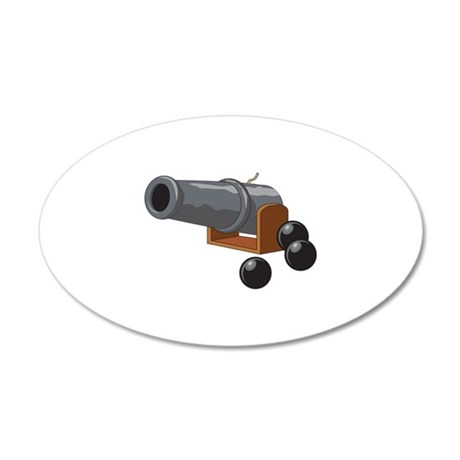 Old Cannon & Balls Wall Decal