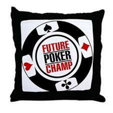 Future Poker Champ Throw Pillow