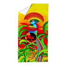 Paradise Bird Beach Towel