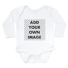 Custom Add Image Long Sleeve Infant Bodysuit