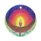 Rainbow Flame Ornament (Round)
