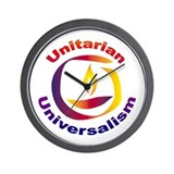 UU_Rainbow Chalice Wall Clock