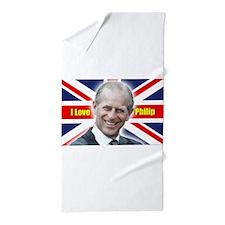 I Love Philip - Prince Philip Beach Towel