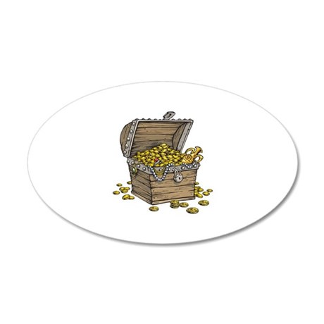 Treasure Chest Gold Money Wall Decal