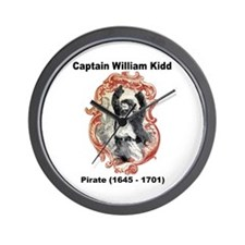 Captain William Kidd Pirate Wall Clock