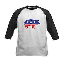 Political Party Pig Mascot Baseball Jersey