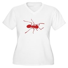 Red Ant Silhouette Plus Size T-Shirt