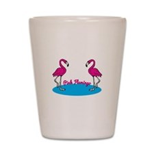 Pink Flamingo Shot Glass