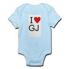 Cute I heart gj Infant Bodysuit
