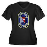 USS KAWISHIW Women's Plus Size V-Neck Dark T-Shirt