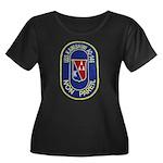 USS KAWI Women's Plus Size Scoop Neck Dark T-Shirt