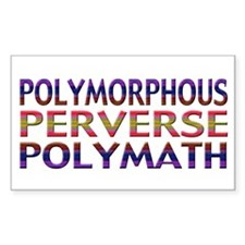 Polymorphous Perverse Polymath Sticker (Rectangula