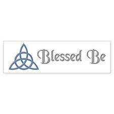 Blessed Be Blue Bumper Bumper Sticker