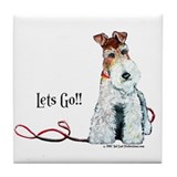 Fox Terrier Walk Tile Coaster