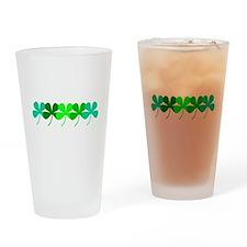 Unique Four leaf clover Drinking Glass