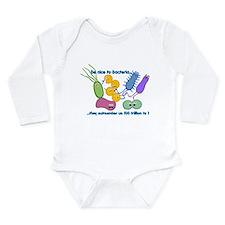 Cute Microbiology Long Sleeve Infant Bodysuit