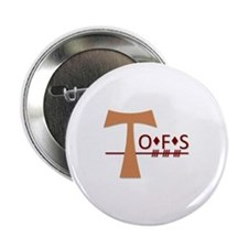 """OFS Secular Franciscan Order 2.25"""" Button"""