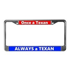 Once A Texan License Plate Frame
