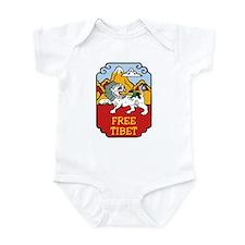 Snow Lion Free Tibet Infant Creeper