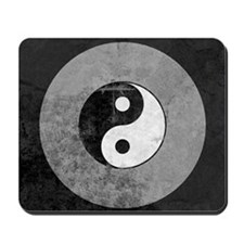 Distressed Yin Yang Symbol Mousepad