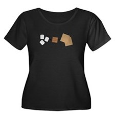 Smores Snack Plus Size T-Shirt
