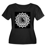 Moon Goddess Women's Plus Size Scoop Neck Dark Tee
