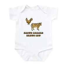 Brown Chicken Infant Bodysuit