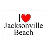 &quot;I Love Jacksonville Beach&quot; Postcards (Package of