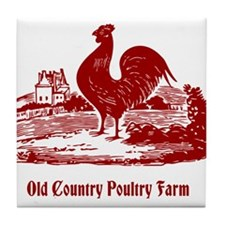 Red Rooster Country Farm Customizable Tile Coaster