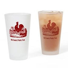 Red Rooster Country Farm Customizable Drinking Gla