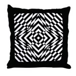 Classic Black And White Psychedelic Throw Pillow