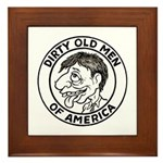Dirty Old Men of America Framed Tile