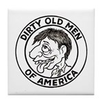 Dirty Old Men of America Tile Coaster